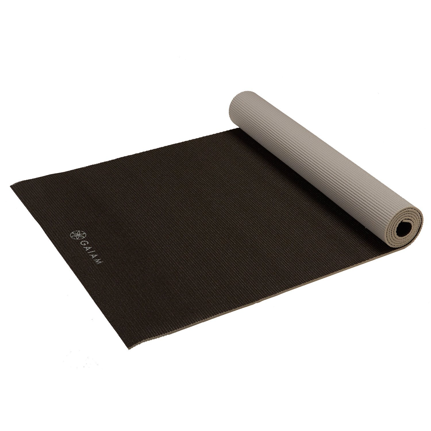 gaiam solid non-slip granite storm yoga mat