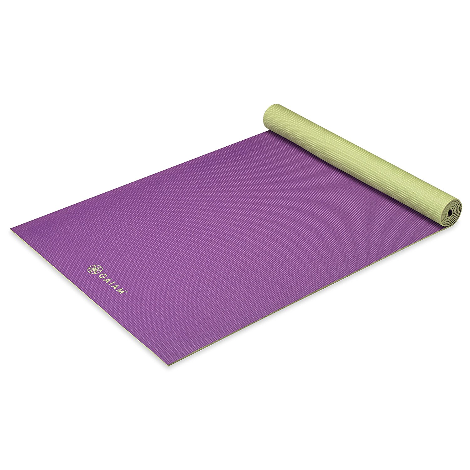 gaiam solid non-slip grape cluster yoga mat