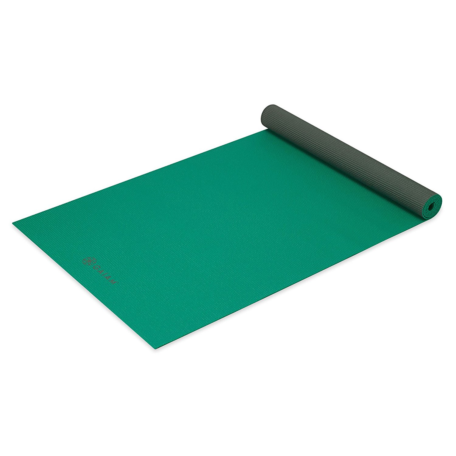gaiam solid non-slip green storm yoga mat