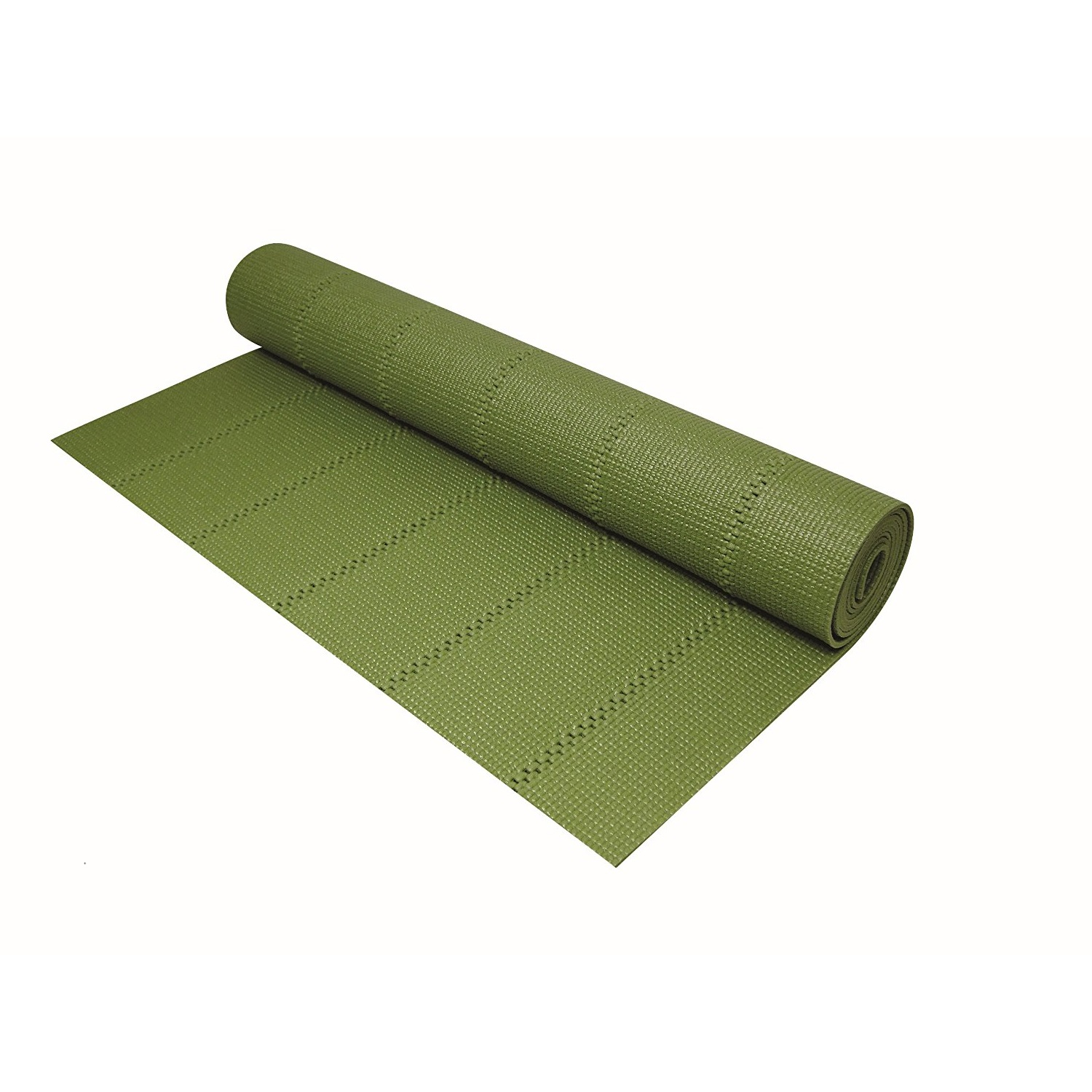 gaiam solid non-slip green tea yoga mat