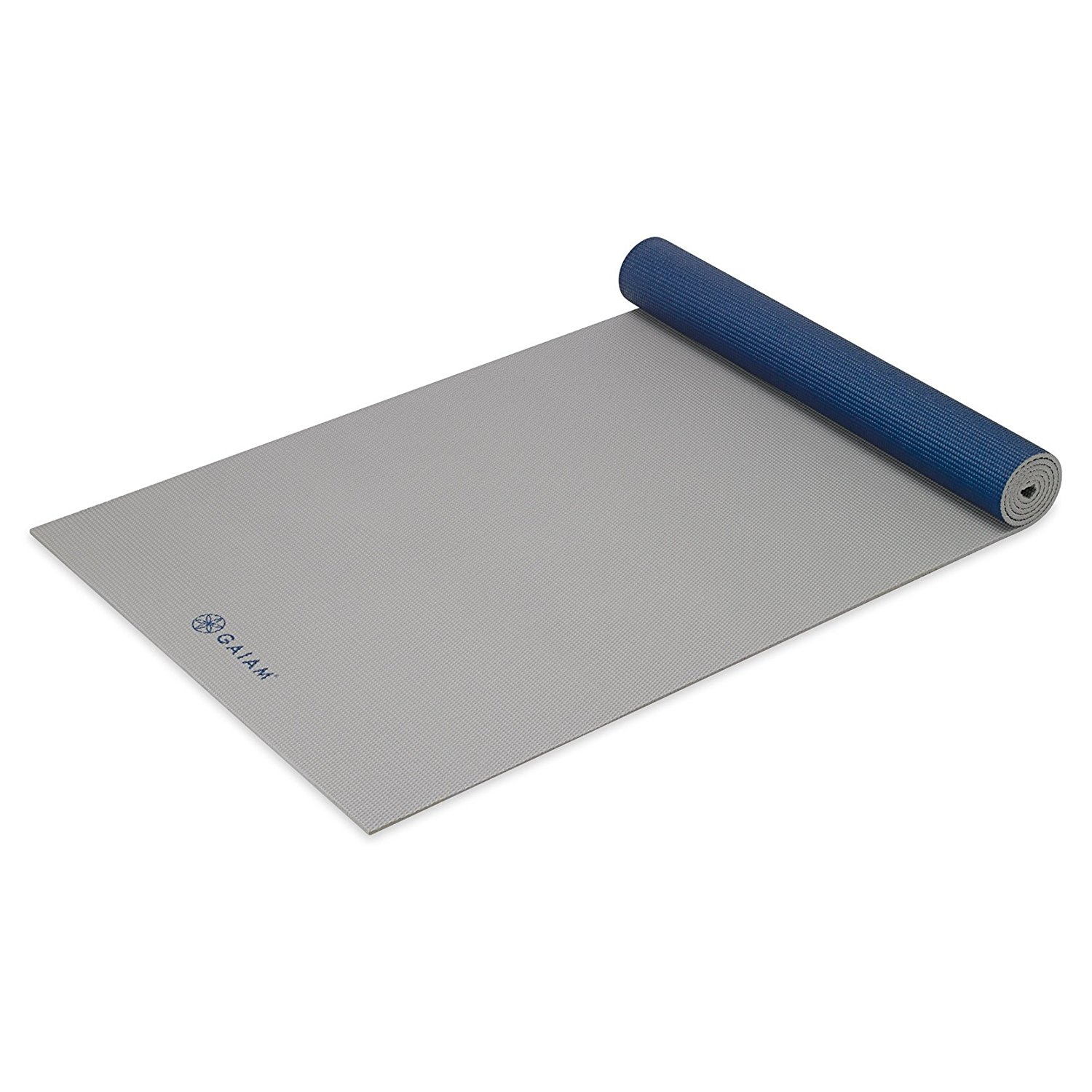 gaiam solid non-slip icy frost yoga mat