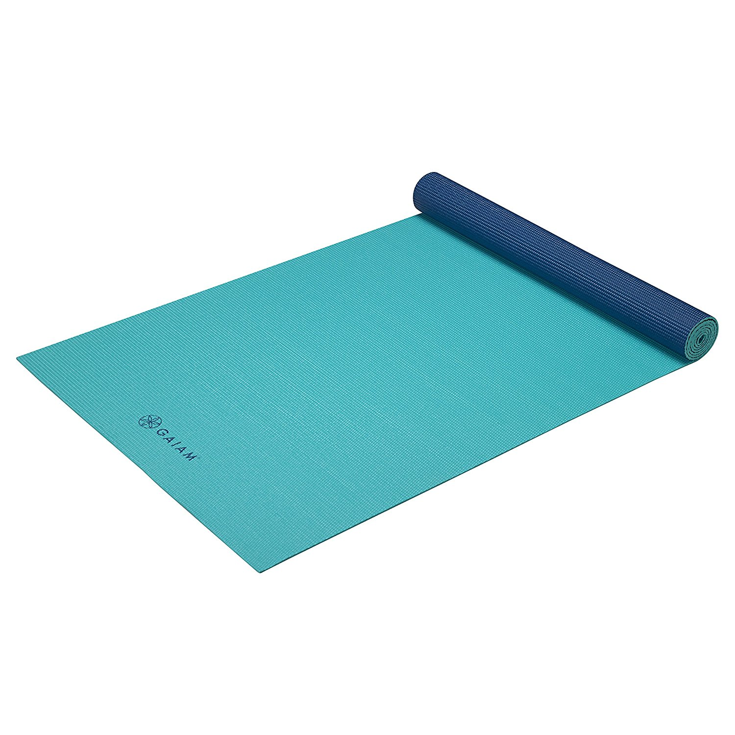 gaiam solid non-slip open sea yoga mat
