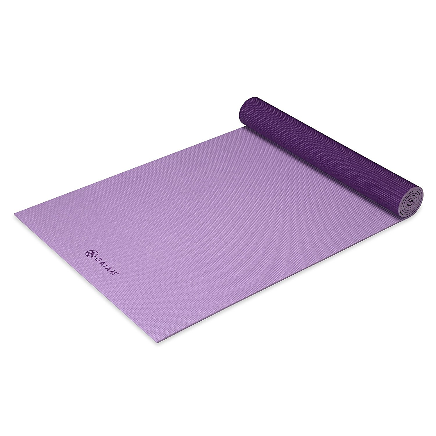 gaiam solid non-slip plum jam yoga mat