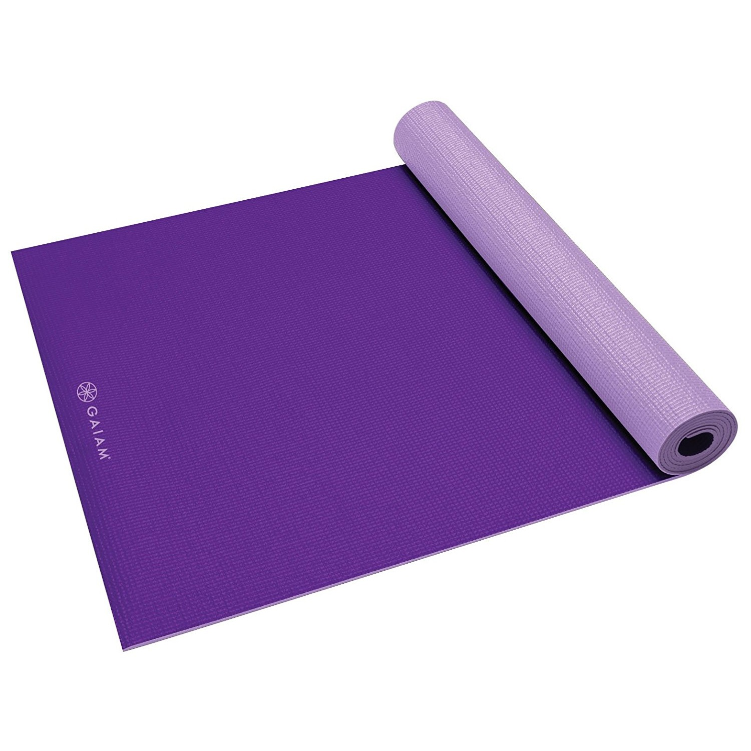 gaiam solid non-slip plum/jam yoga mat