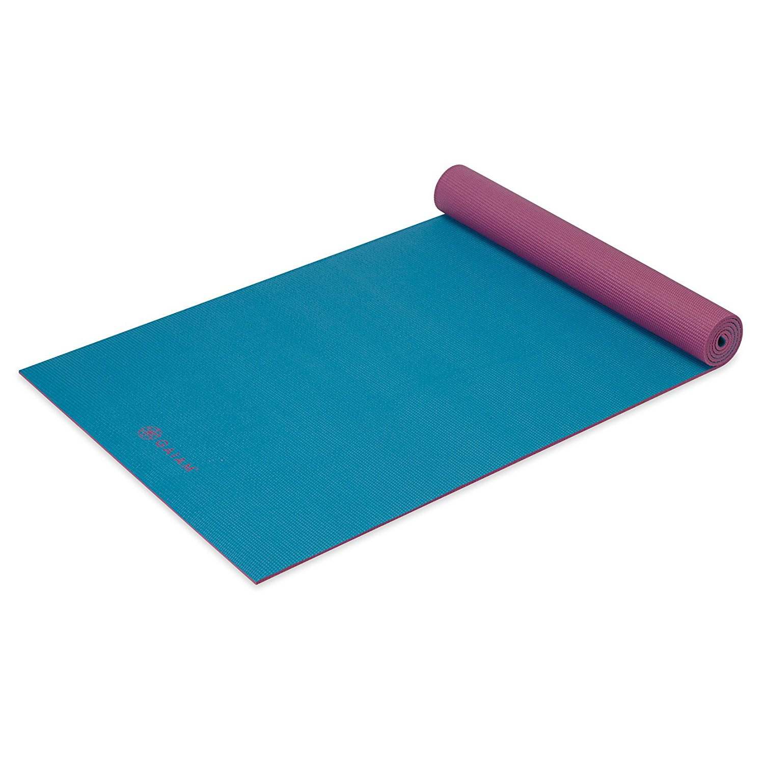 gaiam solid non-slip razzleberry yoga mat