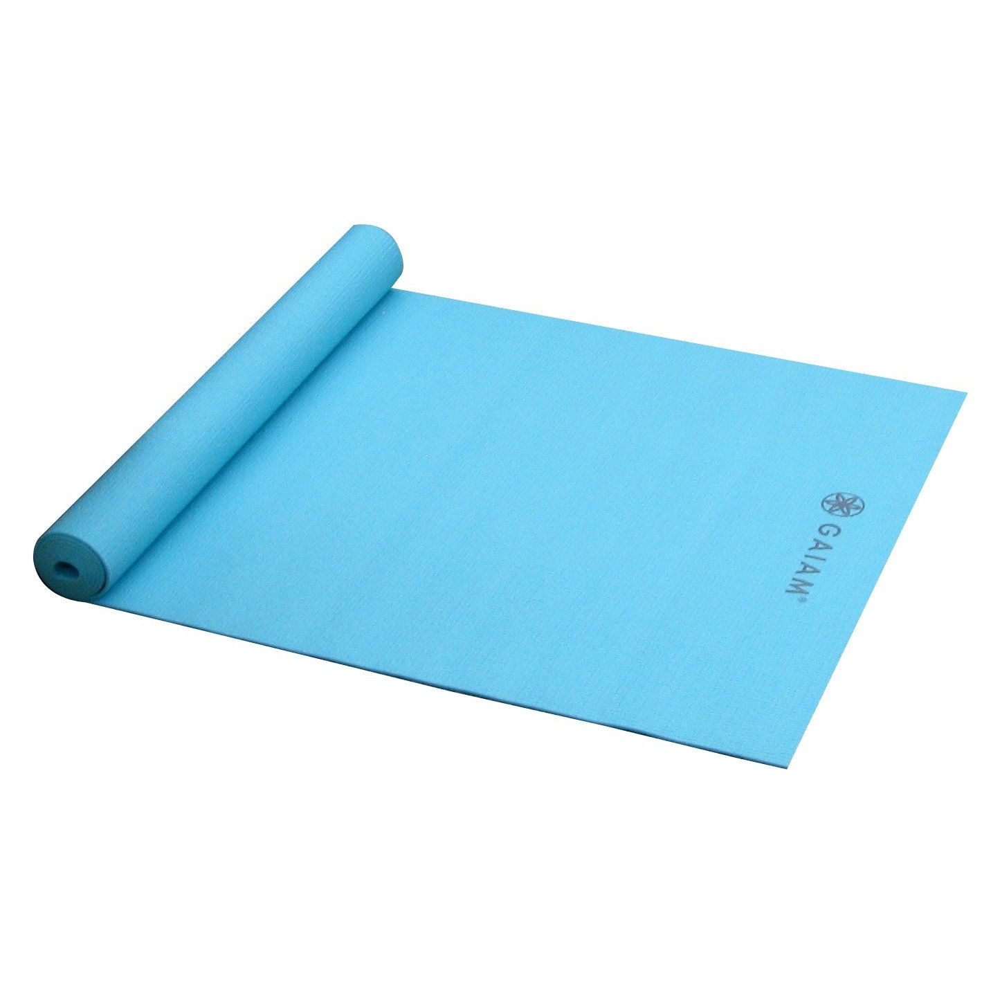 gaiam solid non-slip robins egg yoga mat