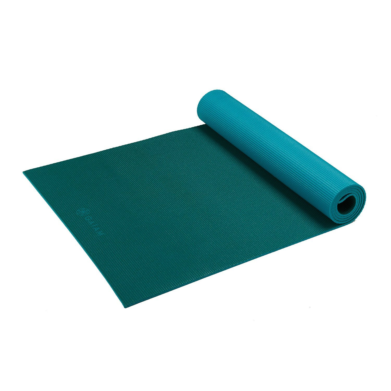 gaiam solid non-slip turquoise sea yoga mat