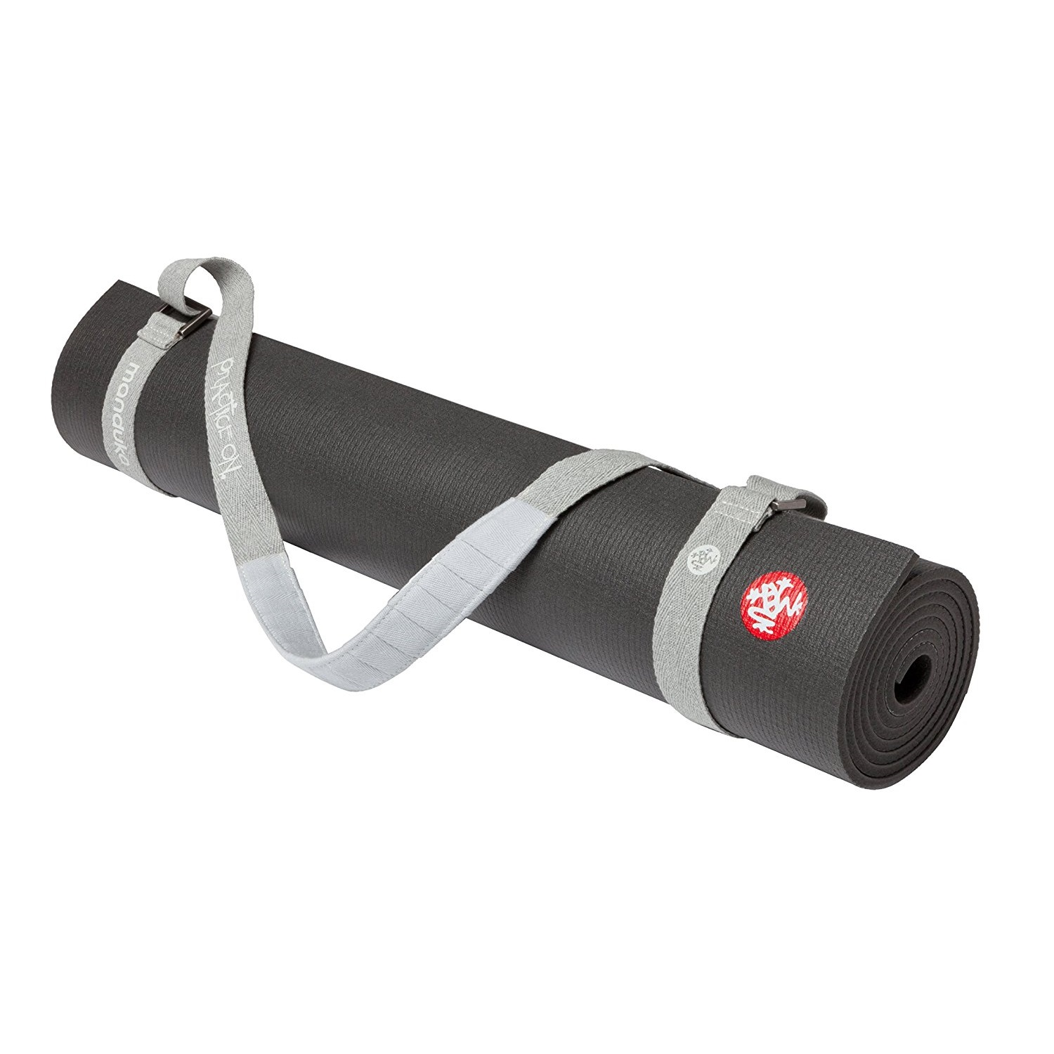 manduka journey on commuter grey bliss yoga mat carrier