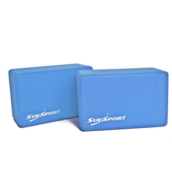 suesport aqua blue high density foam yoga blocks
