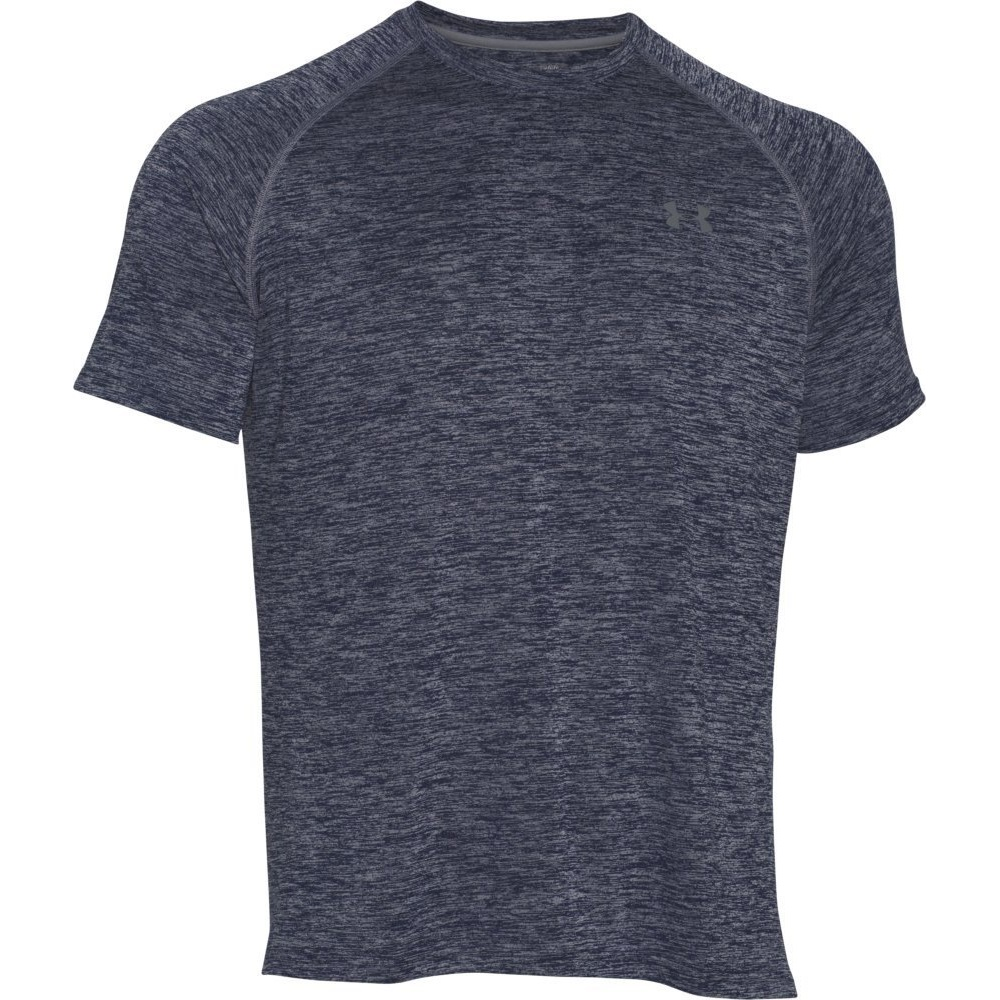 under armour mens tech short sleeve yoga academy-steel t-shirt