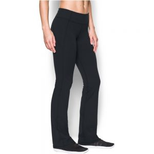 under armour womens mirror boot cut black/silver yoga pant