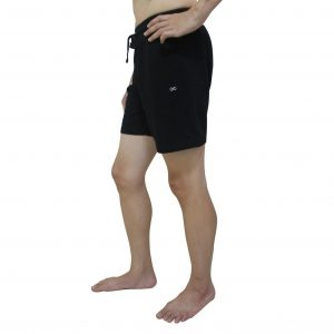 yogaaddict mens quick dry black yoga shorts
