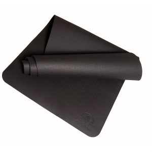 "premio yoga intelligente bettergrip TPE 1/4"" spessa stuoia di yoga nero"