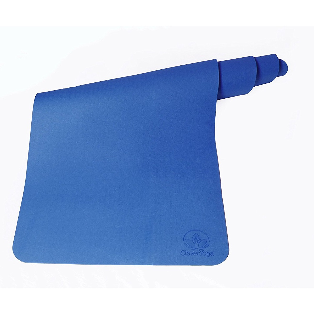 "clever yoga premium bettergrip tpe 1/4"" thick blue yoga mat"