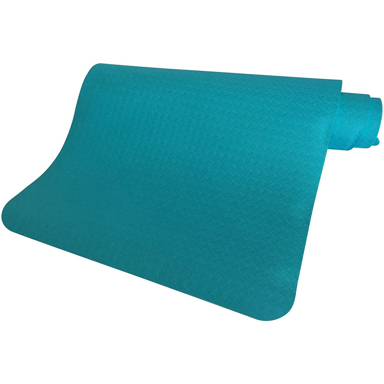 "clever yoga premium bettergrip tpe 1/4"" thick light blue yoga mat"