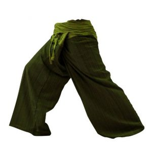 thaistylesproducts 2 tone thai fisherman mens green yoga pants