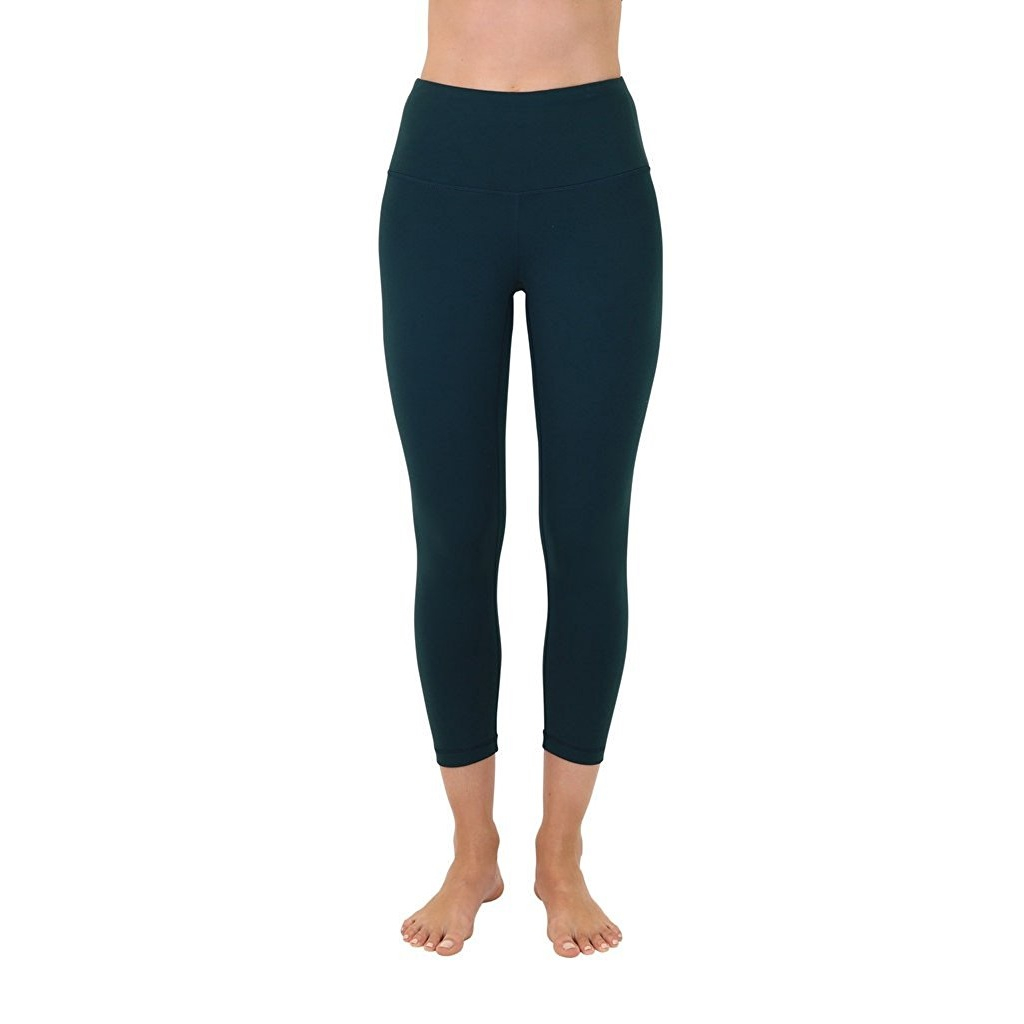 90 degree by reflex eden green womens yoga capri pants