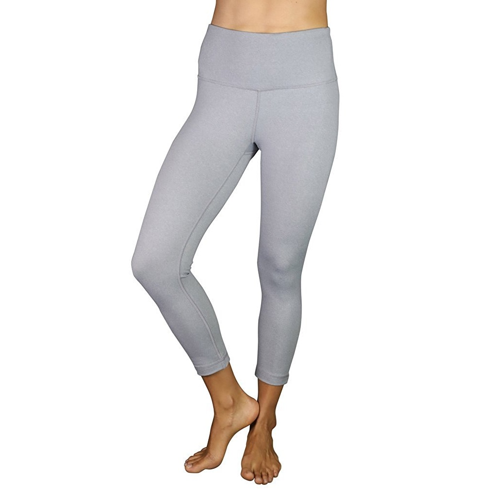90 degree by reflex htr silver grey womens yoga capri pants