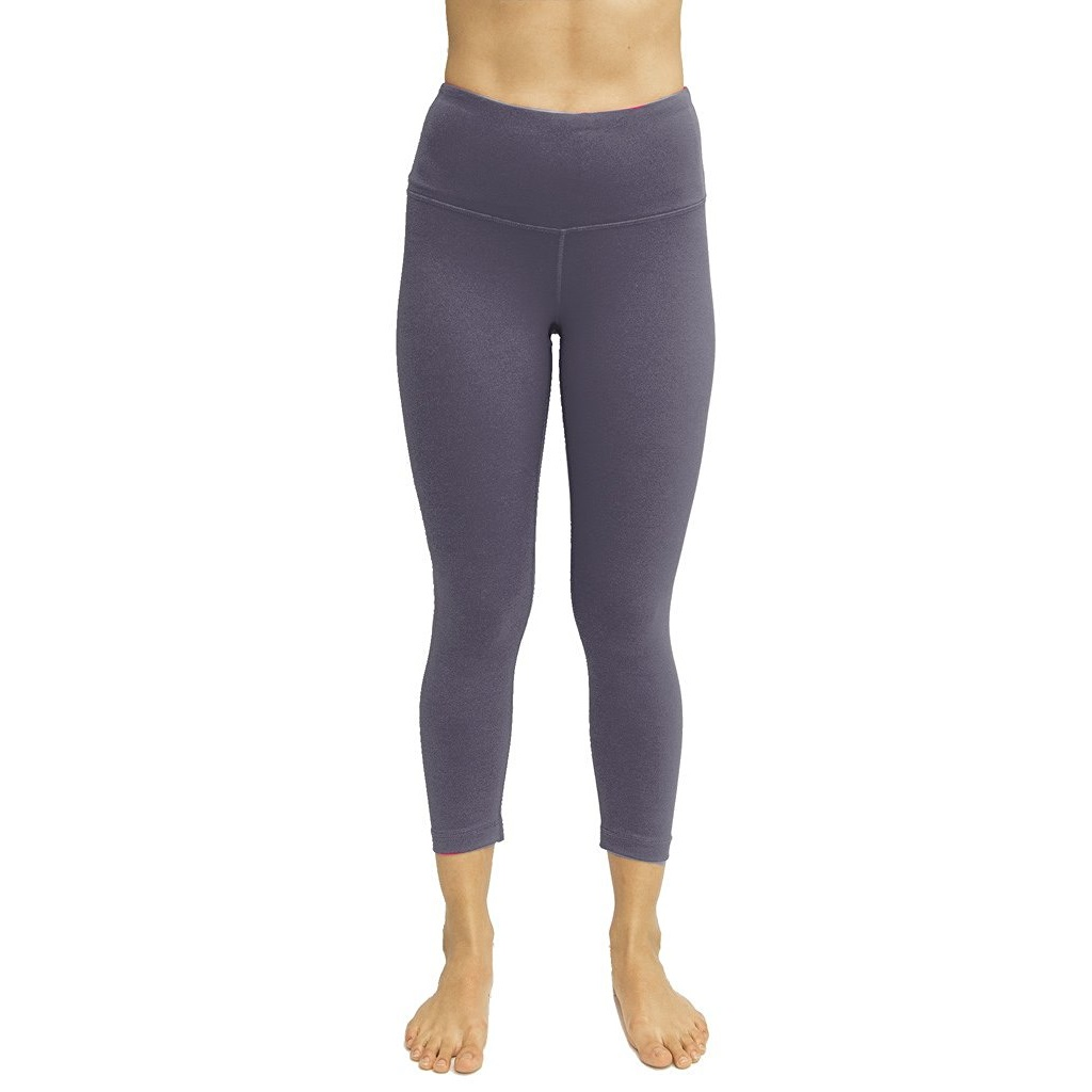 90 degree by reflex lavender grey womens yoga capri pants