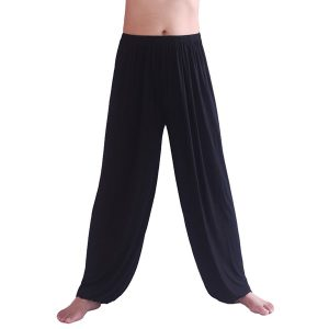 hoerev mens black harem yoga pants