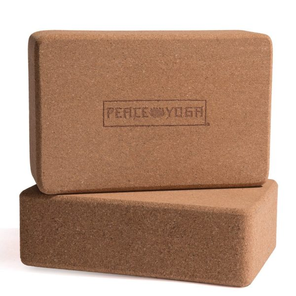 two peace yoga cork wood yoga blocks