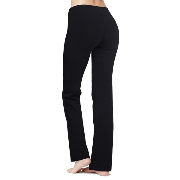 black baleaf womens bootleg yoga pants