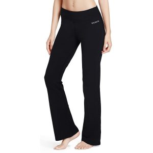 baleaf womens bootleg yoga pants black