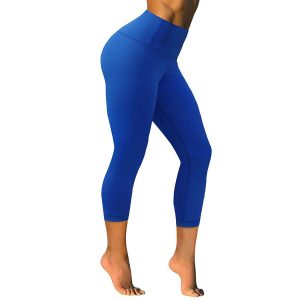 bubblelime womens high waist yoga pants cobalt blue