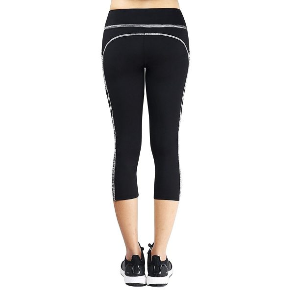 east hong womens black/grey quick-drying yoga pants
