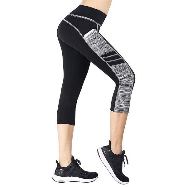east hong womens quick-drying yoga pants black/grey