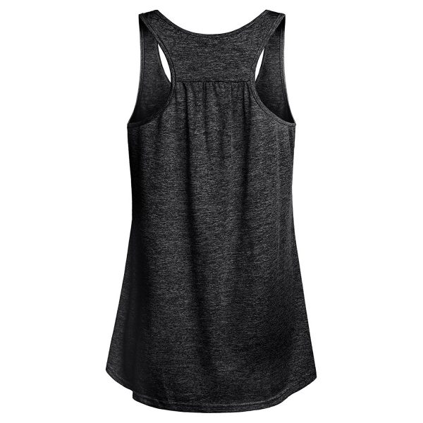 miusey womens tank top yoga shirt black