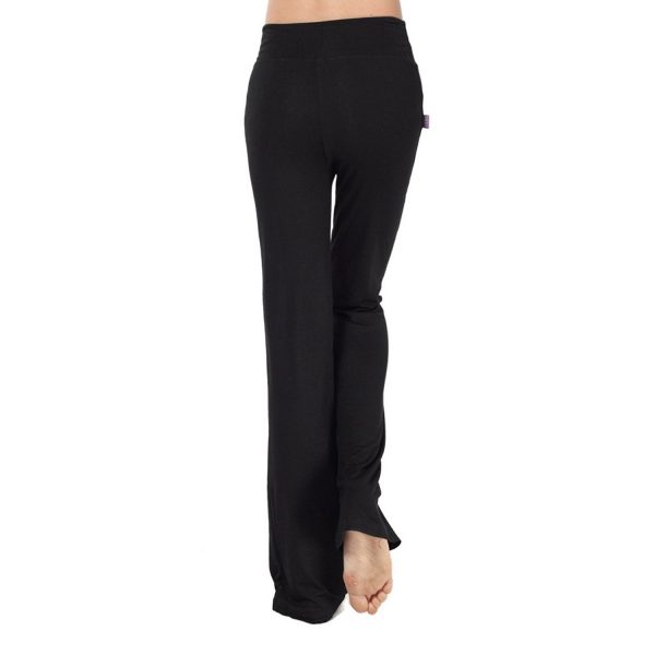 nb womens modal drawstring long black yoga pants