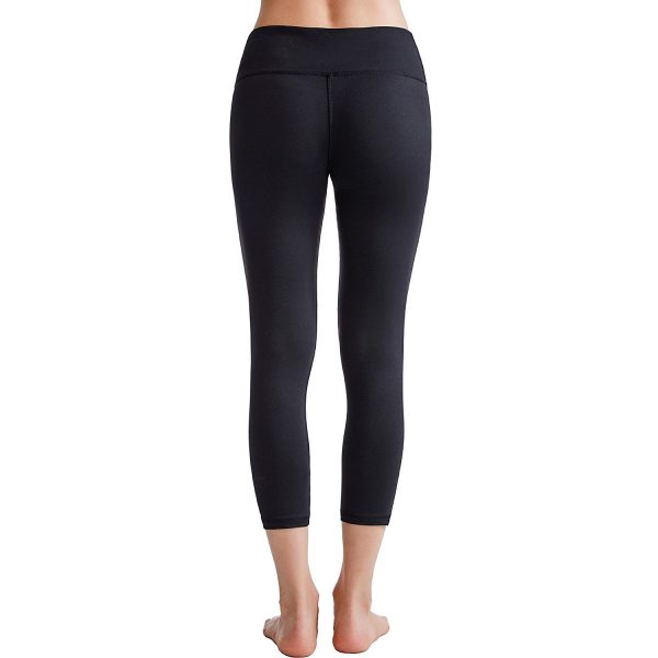 black oalka power flex womens yoga capri pants