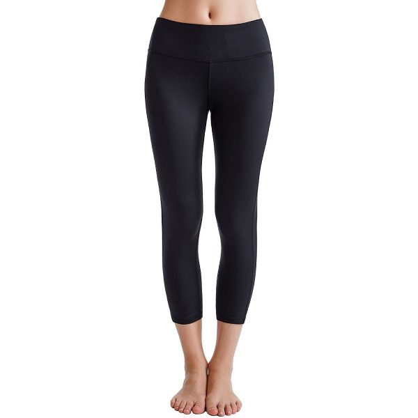 oalka power flex womens yoga capri pants black