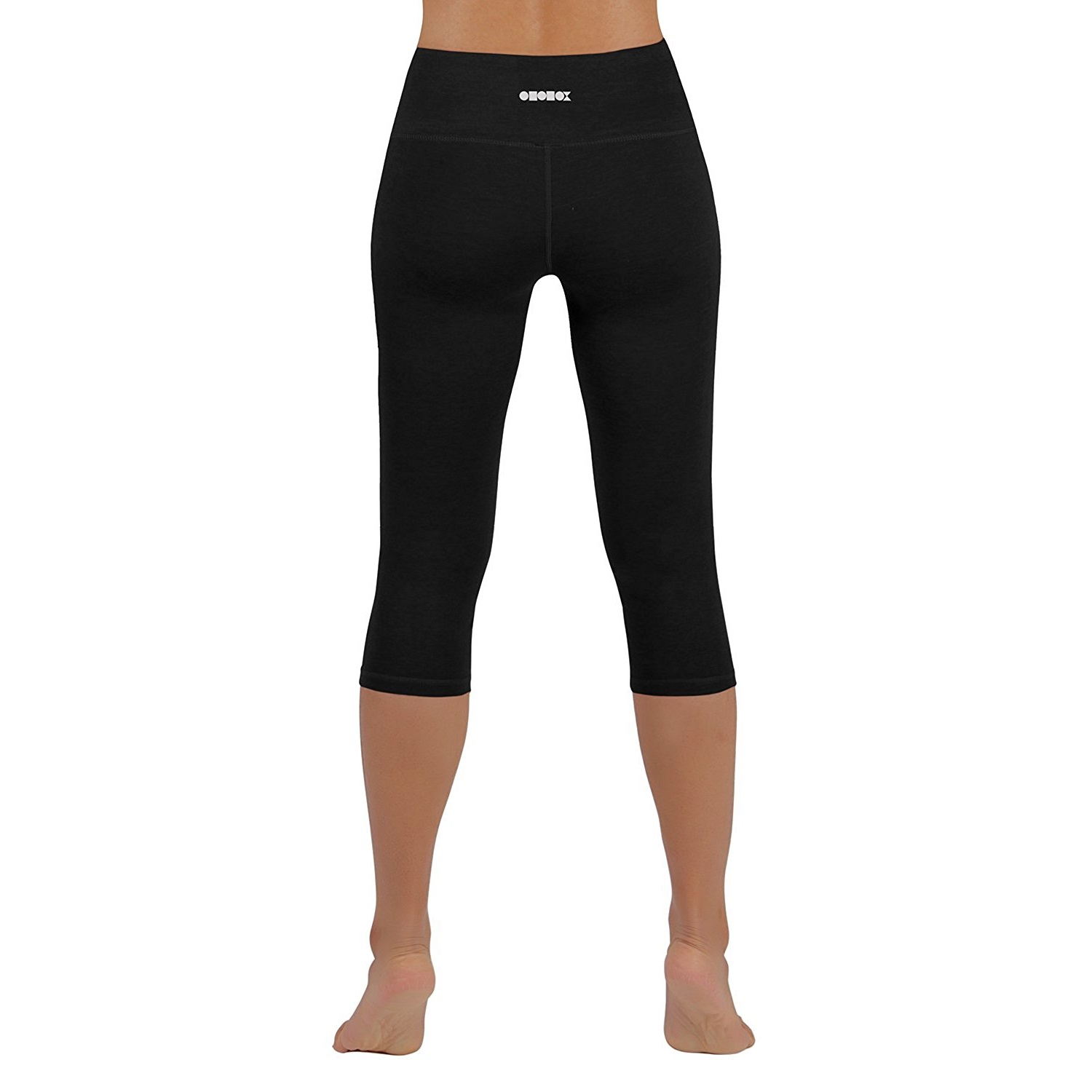 black ododos power flex womens 4-way stretch yoga capri pants c5bec8ff8a