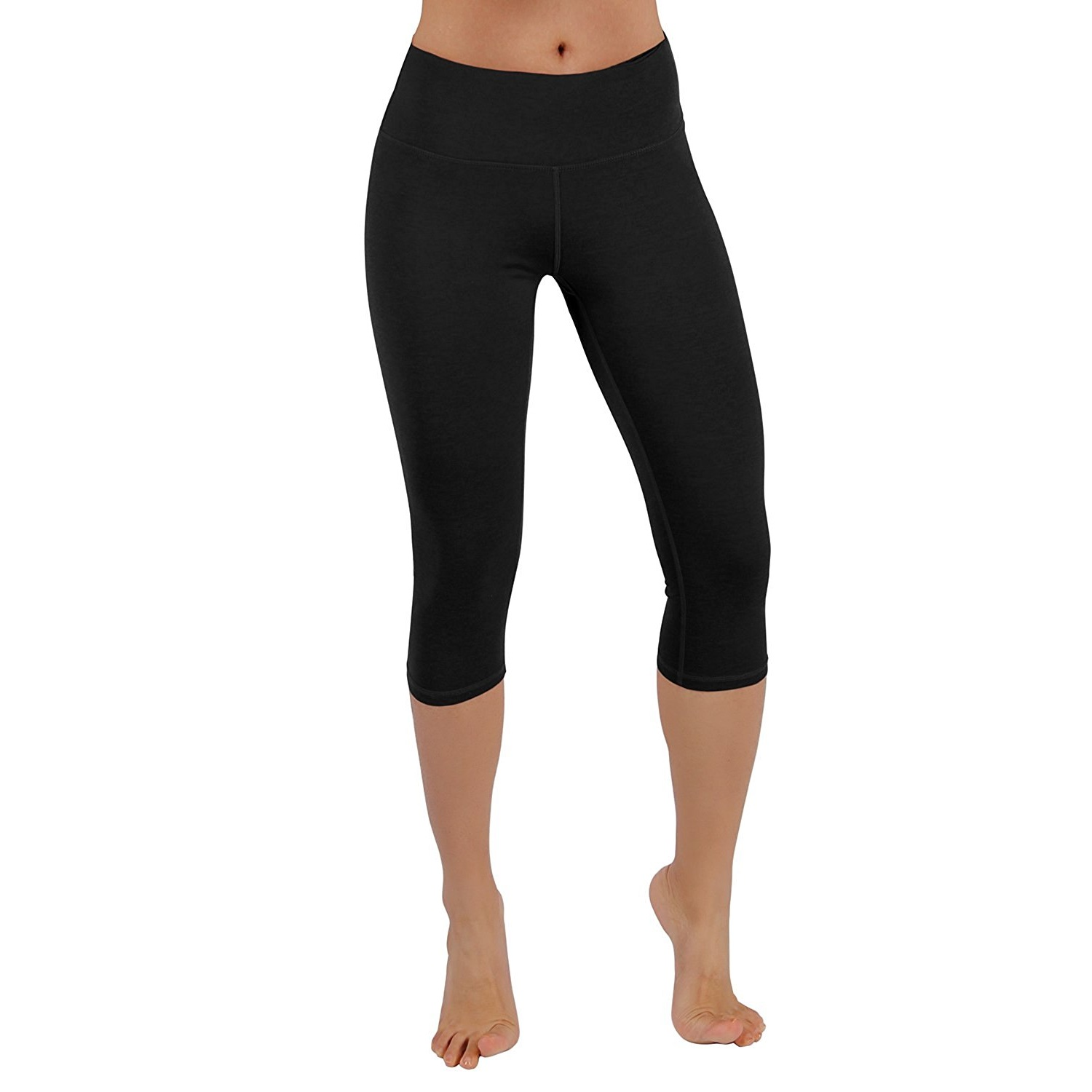 new style incredible prices classic ODODOS Power Flex Women's 4-Way Stretch Yoga Capri Pants