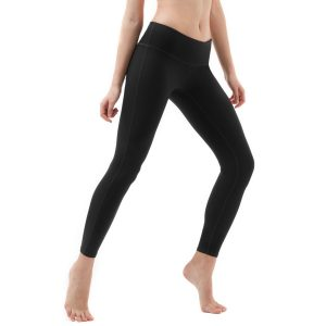 tesla womens mid-waist yoga pants black