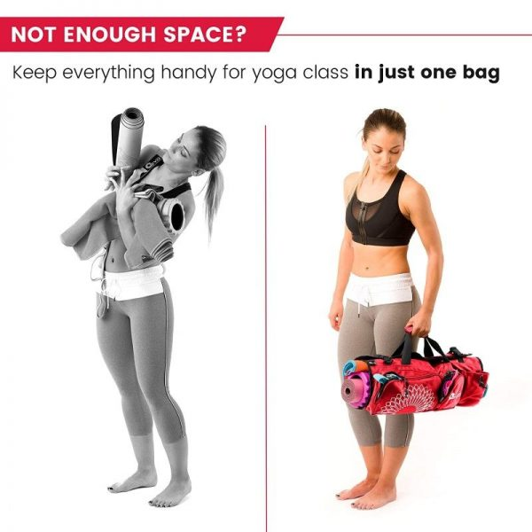the yoga evo open end yoga mat bag fits all your yoga gear