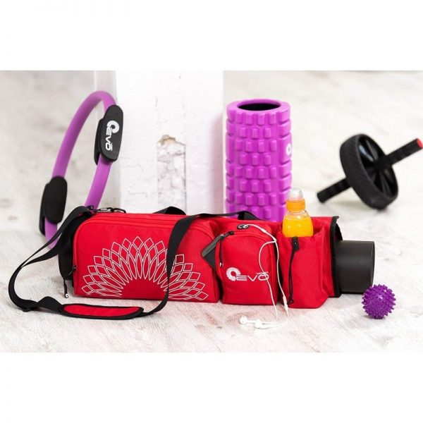 the yoga evo open end yoga mat bag carries everything you need at your yoga class
