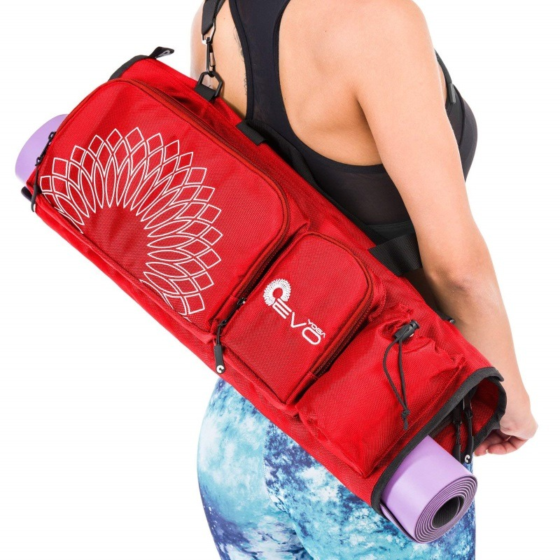 86599e98fb a red yoga evo open end yoga mat bag