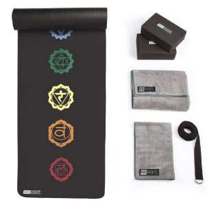 fit spirit 6-piece 7 chakra yoga starter set